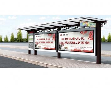 不锈钢太阳能滚动广告候车亭灯箱