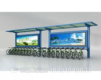太阳能公共自行车广告定点停车棚厂家