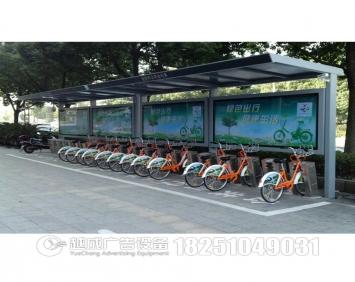 城市公共不锈钢自行车亭棚